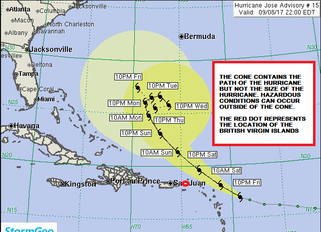 Tropical Storm Watch Issued For The British Virgin Islands